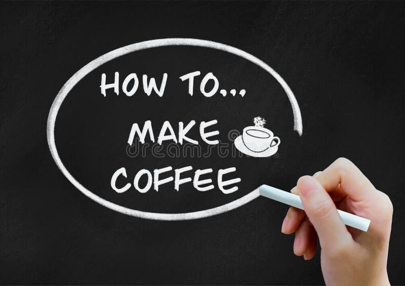 Comment faire le concept de milieux de café sur le tableau photographie stock