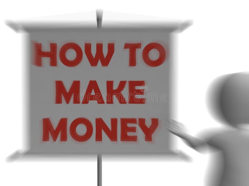 Comment gagner l'argent embarquer la richesse et le succès d'affichages illustration libre de droits