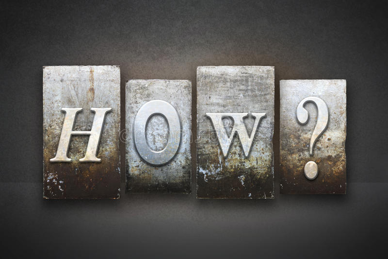 Comment ? Impression typographique images stock