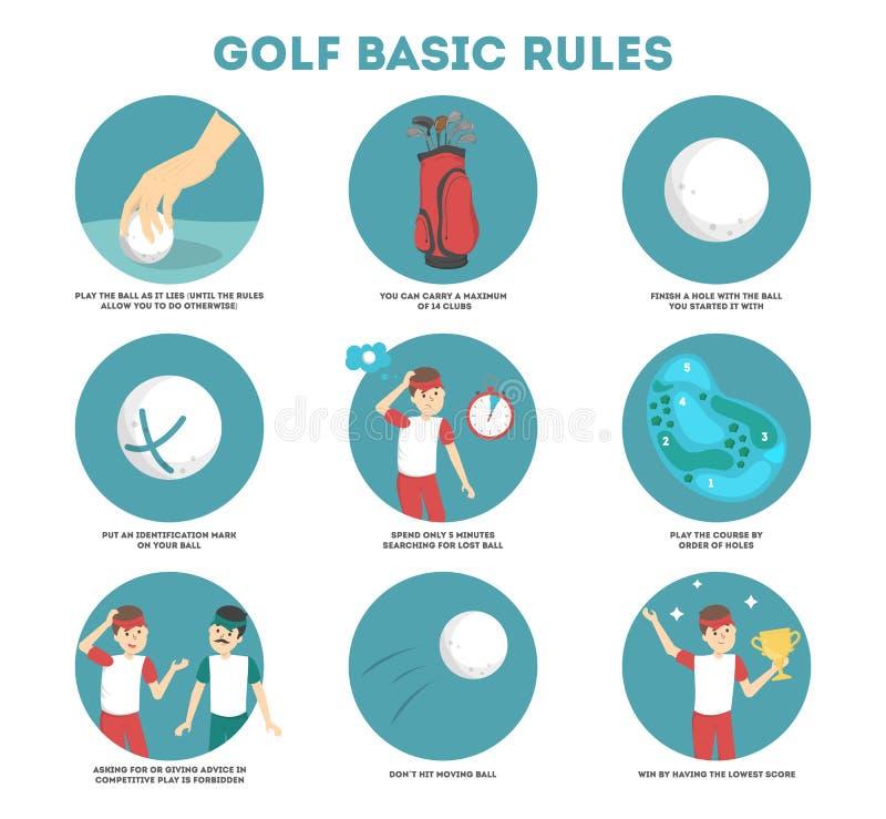 Comment jouer le guide de golf pour des débutants illustration de vecteur