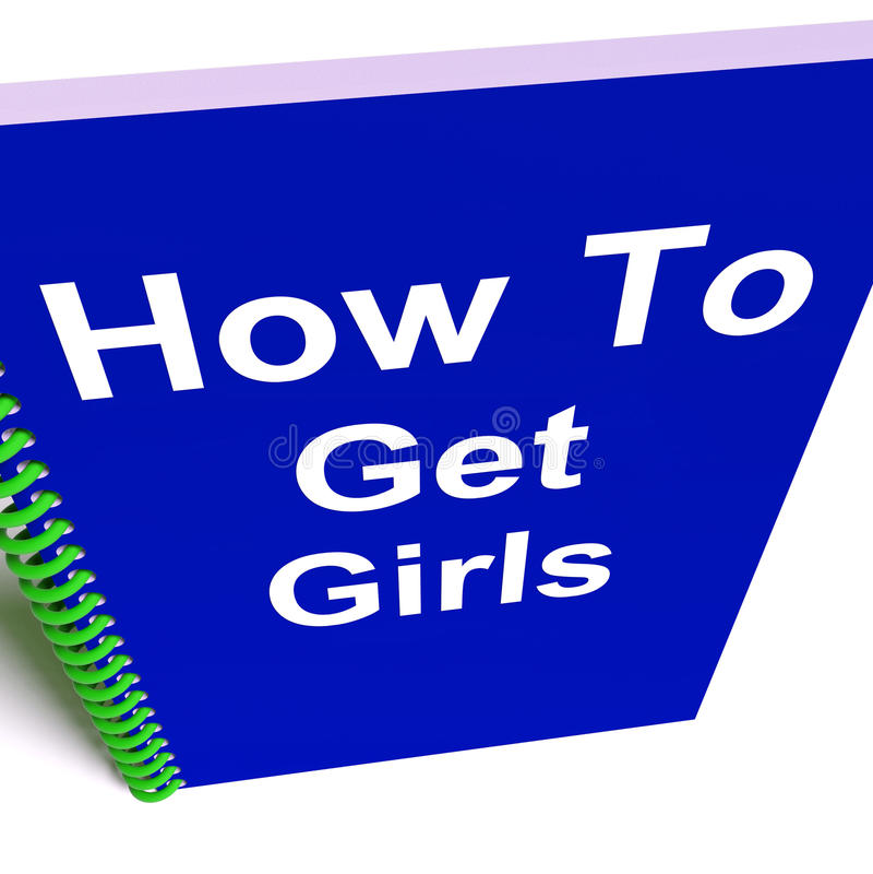 Comment obtenir des filles sur le carnet illustration de vecteur