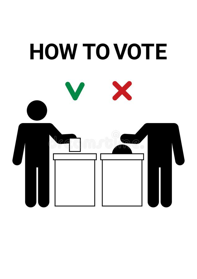 Comment voter illustration libre de droits