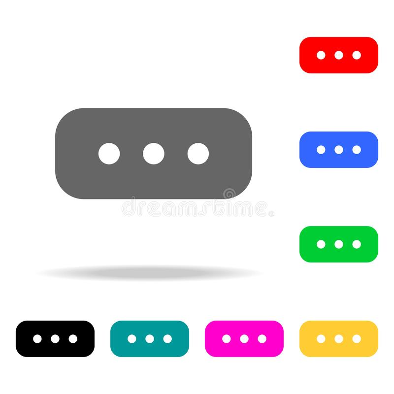Commentaarpictogram Elementen in multi gekleurde pictogrammen voor mobiel concept en Web apps Pictogrammen voor websiteontwerp en vector illustratie