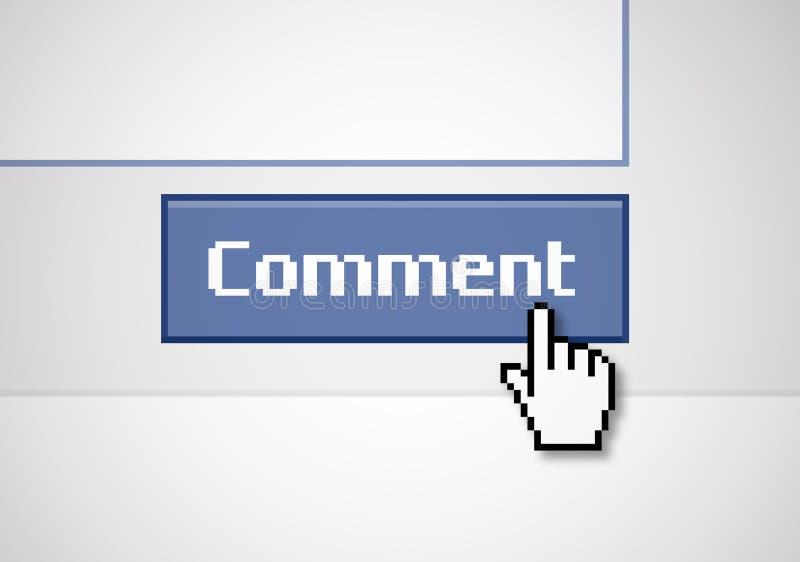 Commentaire de bouton illustration de vecteur