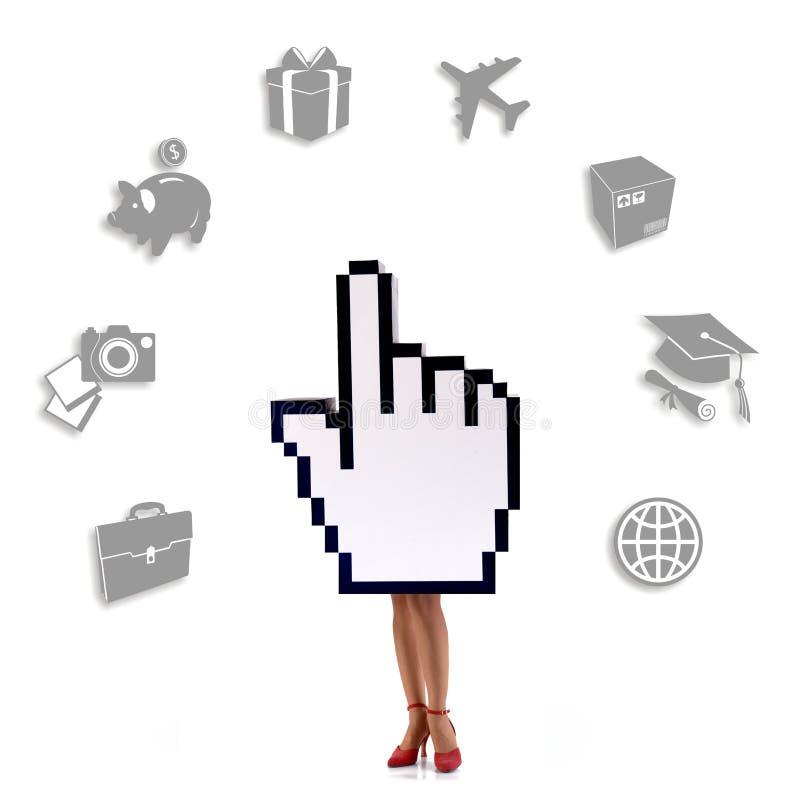 Commerce électronique : ajoutez au panier avec un cliquetis illustration libre de droits