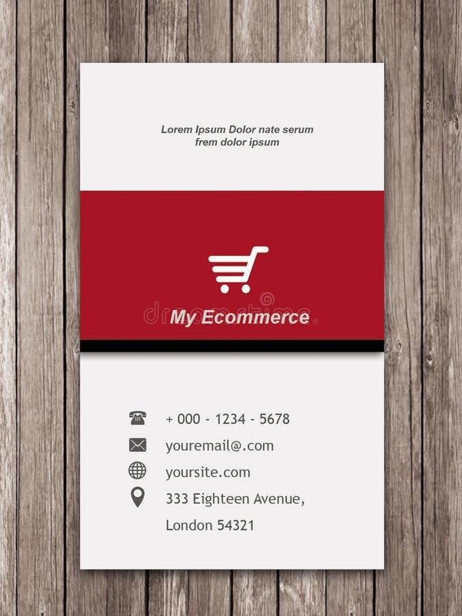 Commerce électronique rouge de chariot d'affaires photo libre de droits