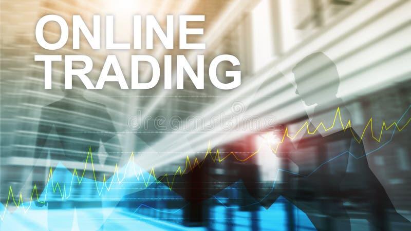 Commerce, concept en ligne de forex, d'investissement et de marché financier photos stock