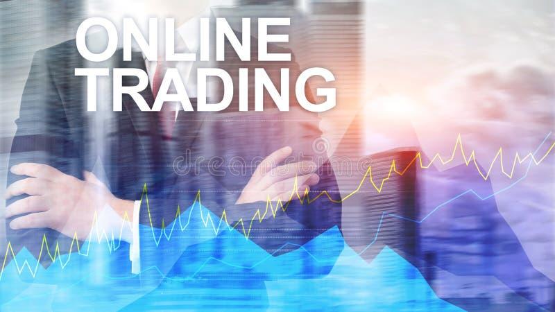 Commerce, concept en ligne de forex, d'investissement et de march? financier photos libres de droits