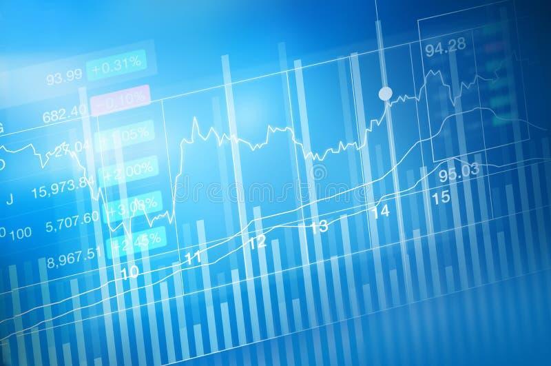 Commerce d'investissement de marché boursier, diagramme de graphique de bâton de bougie, tendance de graphique, point à la hausse illustration de vecteur