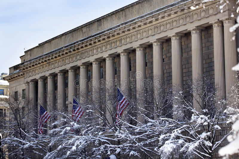 Download Commerce Department After Snow Pennsylvania Ave Royalty Free Stock Images - Image: 17640649