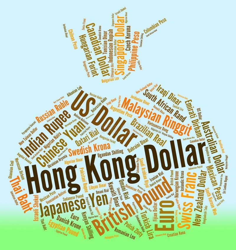 Commerce et devise de Hong Kong Dollar Indicates Forex illustration libre de droits