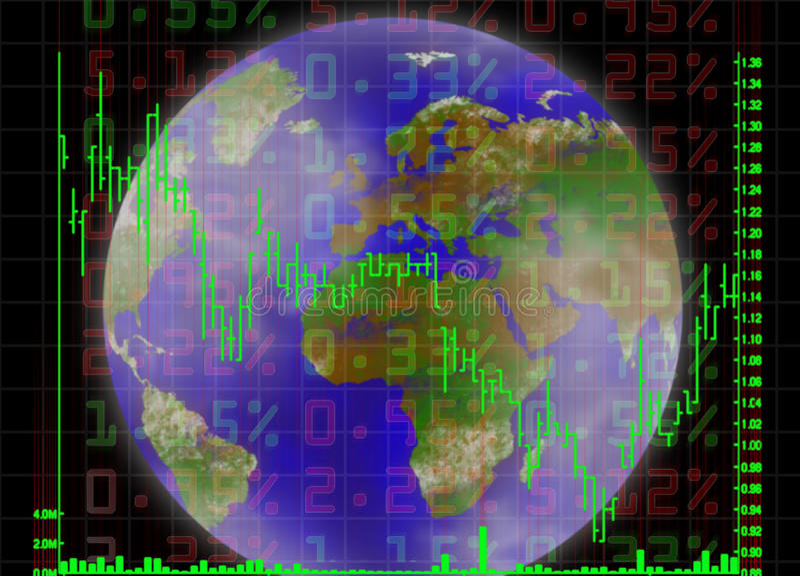 Commerce global illustration libre de droits