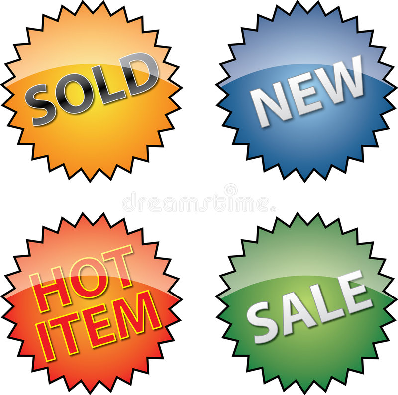 Commerce Labels Royalty Free Stock Photos