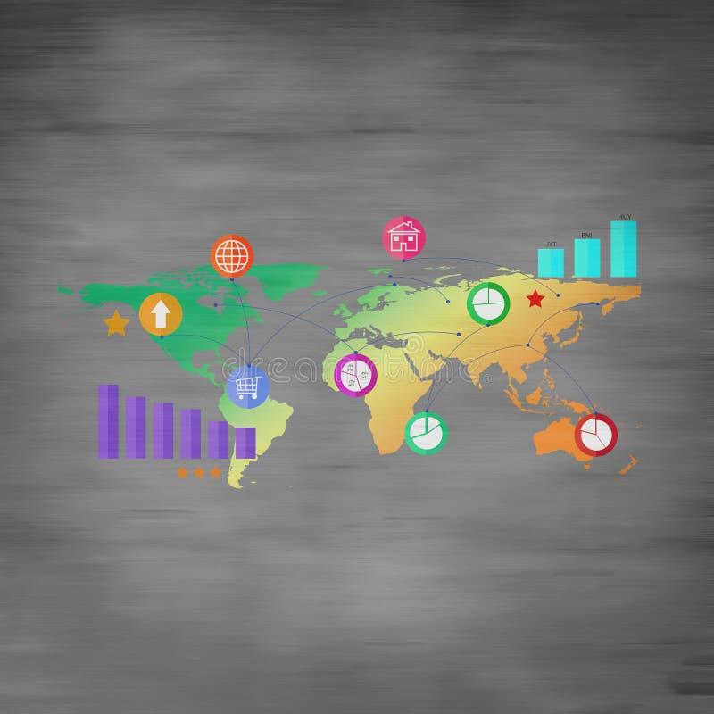 Commerce mondial illustration libre de droits
