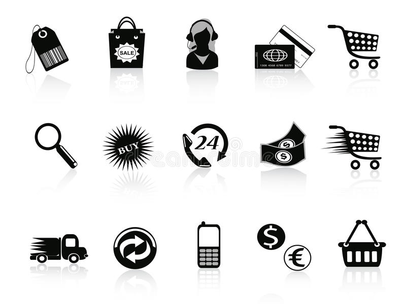 Download Commerce And Retail Icons Set Stock Vector - Image: 22308462