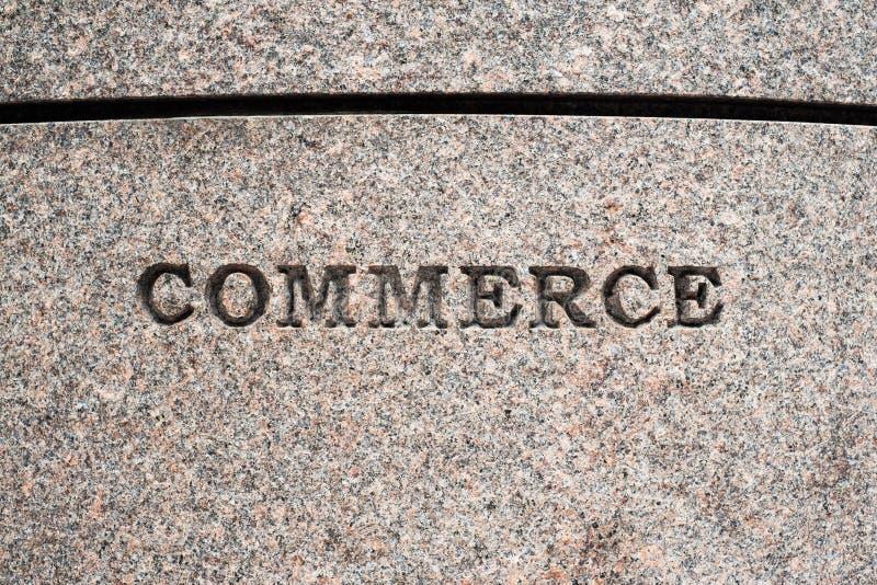 Commerce sign stock photo