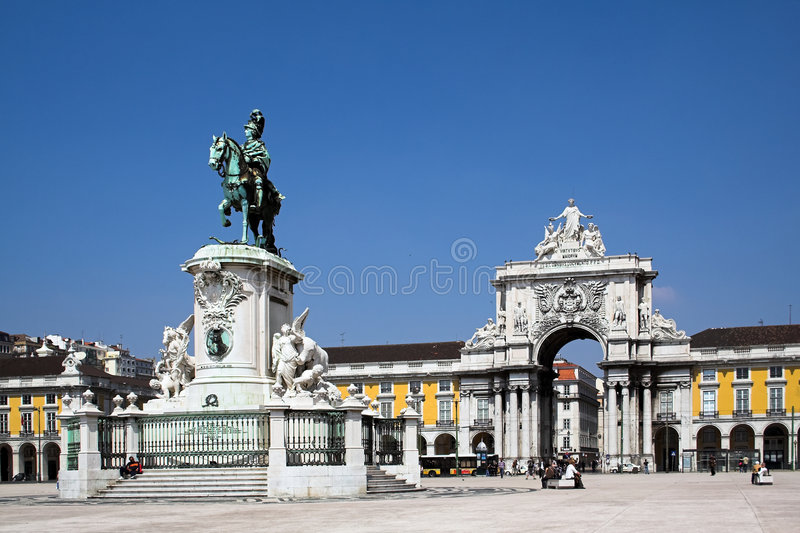 Download Commerce Square in Lisbon stock image. Image of commerce - 2331783