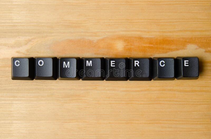 Commerce word stock image