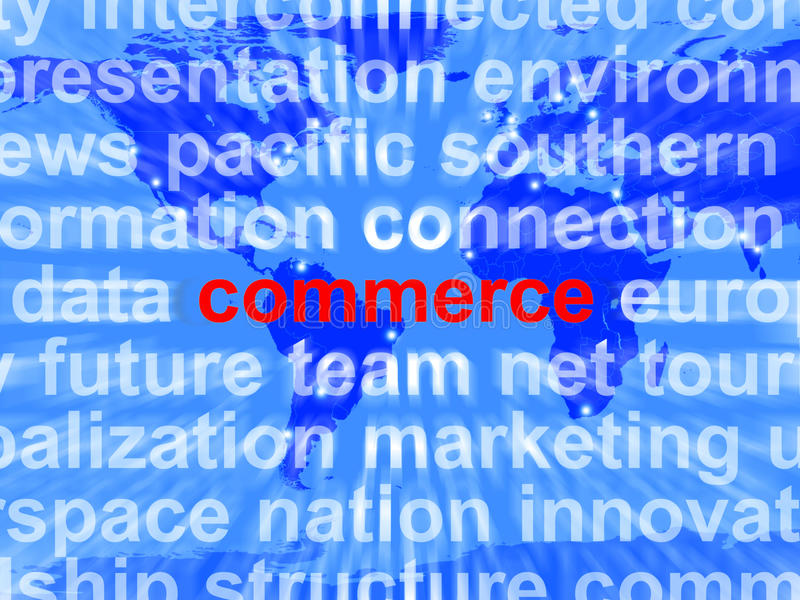 Download Commerce Word Showing The Business Of Buying Royalty Free Stock Images - Image: 24615179