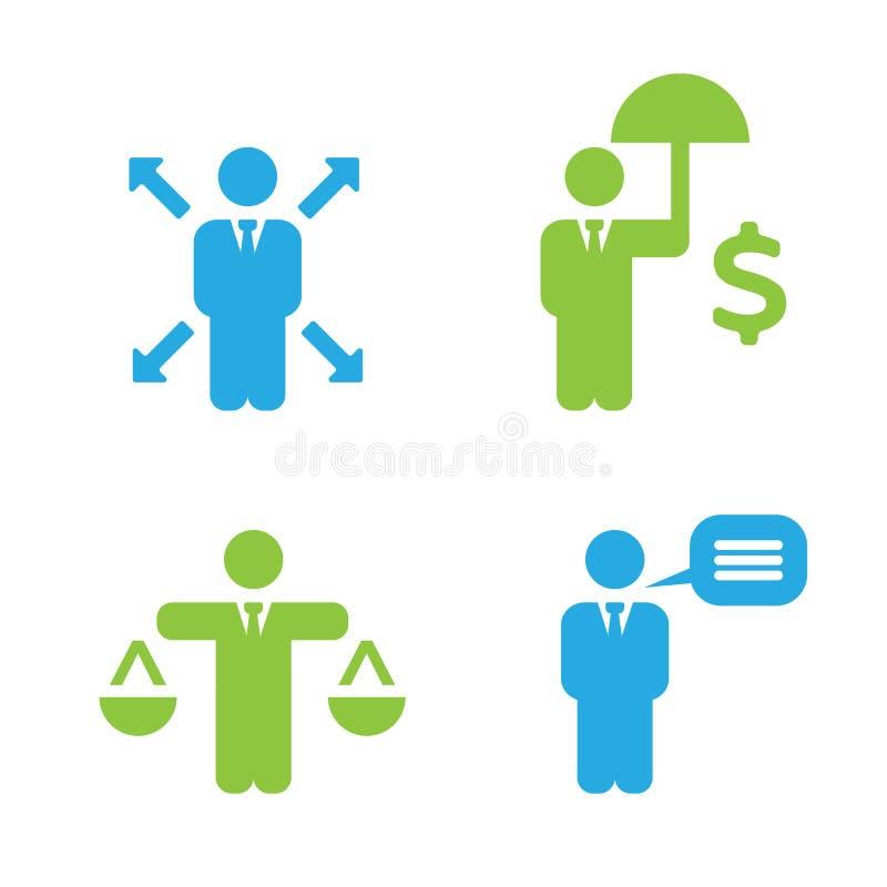 Commerciële Beleidspictogrammen vector illustratie