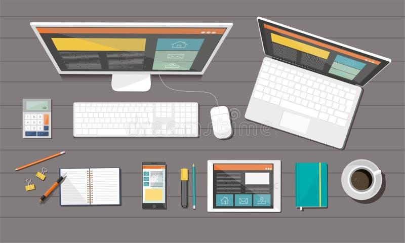 Commerciële collectieve organisatie Het ontvankelijke Ontwerp van het Web Het vlakke concept van de ontwerpstijl vector illustratie