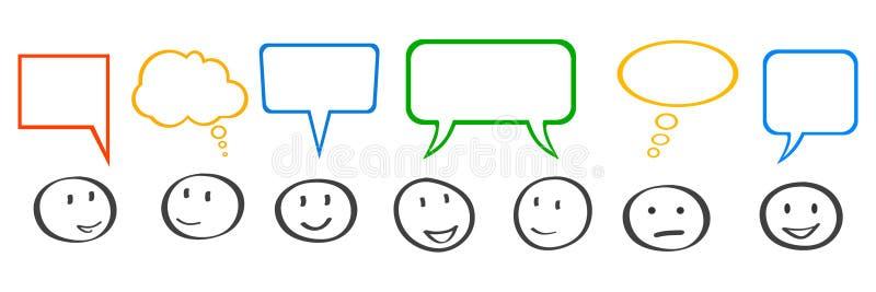 Commerciële collectieve vergadering, mededeling - vector stock illustratie