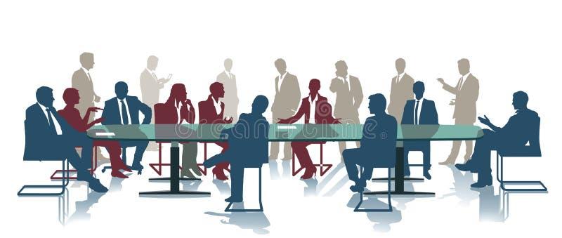 Commerciële conferentie of vergadering stock illustratie