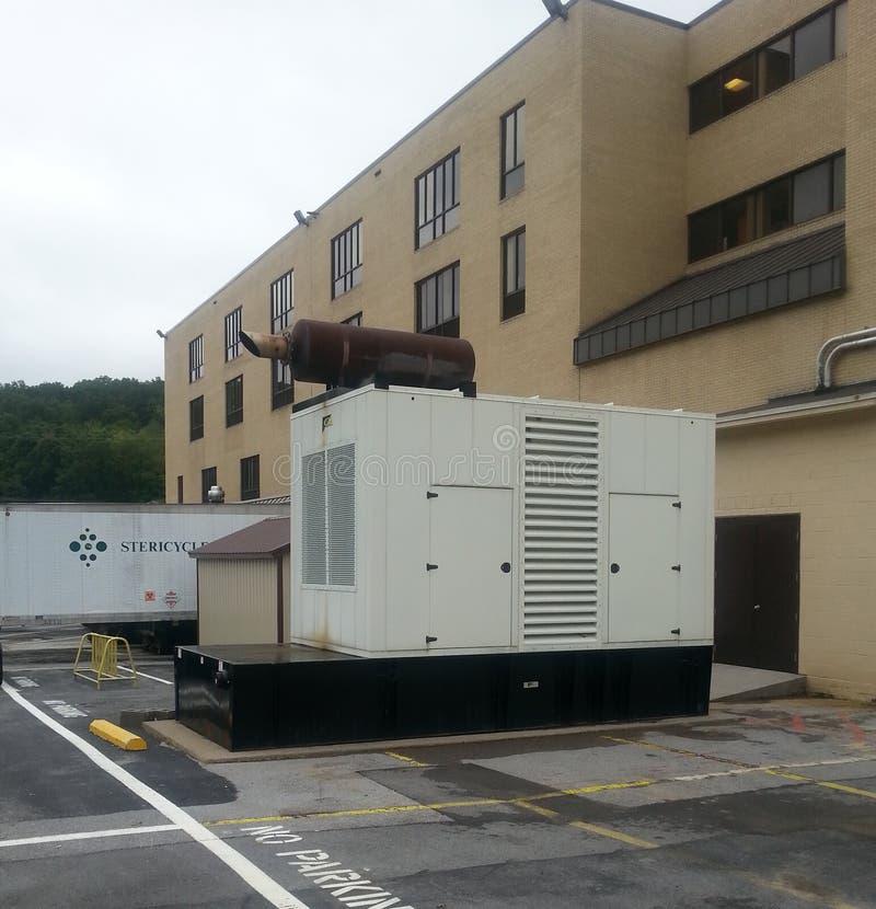 Commerciële diesel generator stock foto