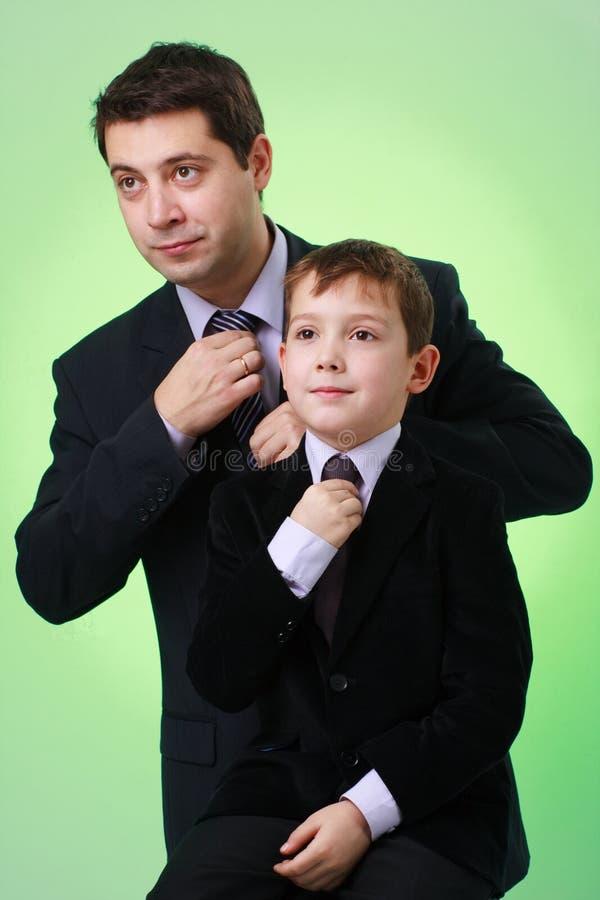 Commerciële familie royalty-vrije stock foto