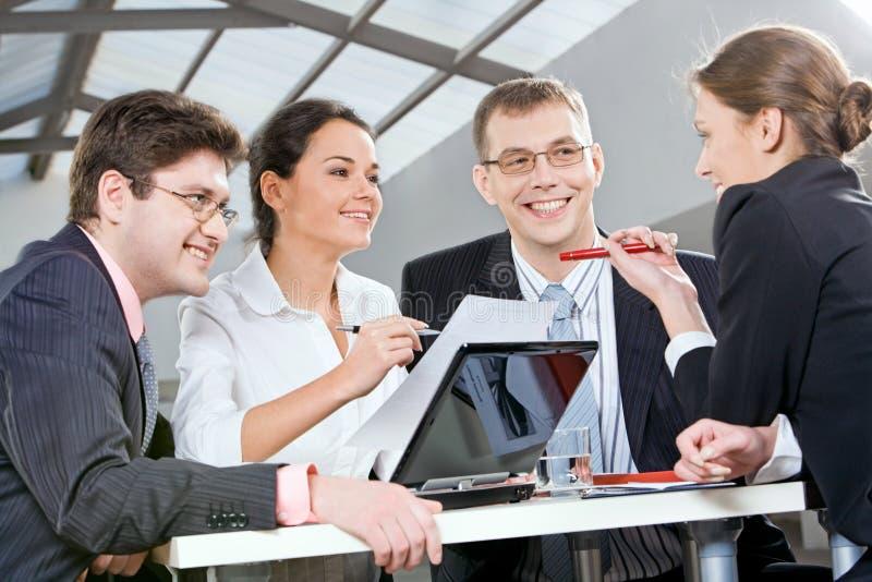 Commerciële groep stock foto