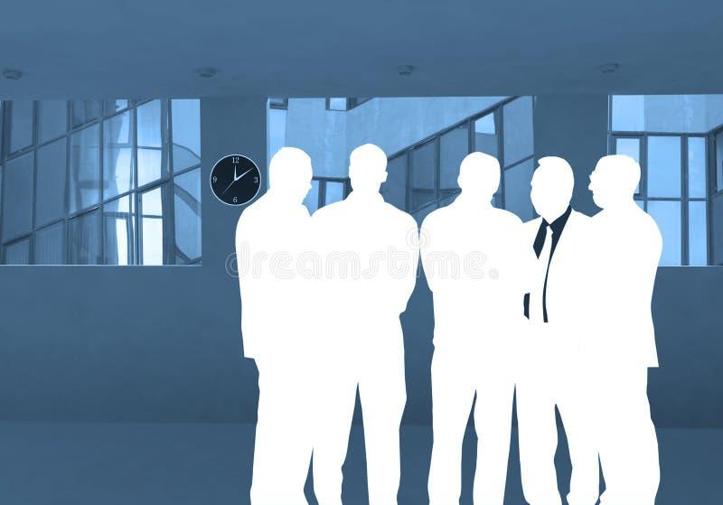 Commerciële groep vector illustratie