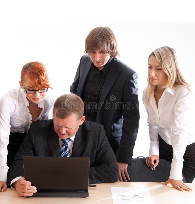 Commerciële groep op het werk royalty-vrije stock foto's
