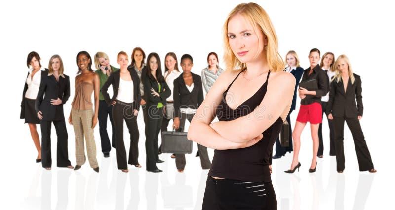 Commerciële groep slechts vrouw royalty-vrije stock fotografie