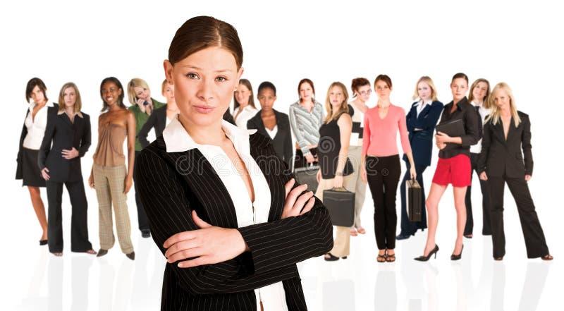 Commerciële groep slechts vrouw royalty-vrije stock foto's