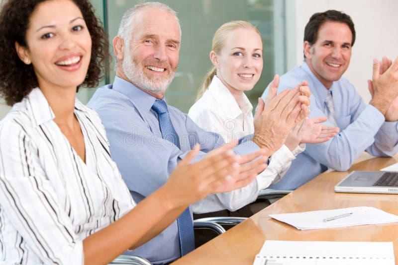 Commerciële groepsvergadering royalty-vrije stock foto