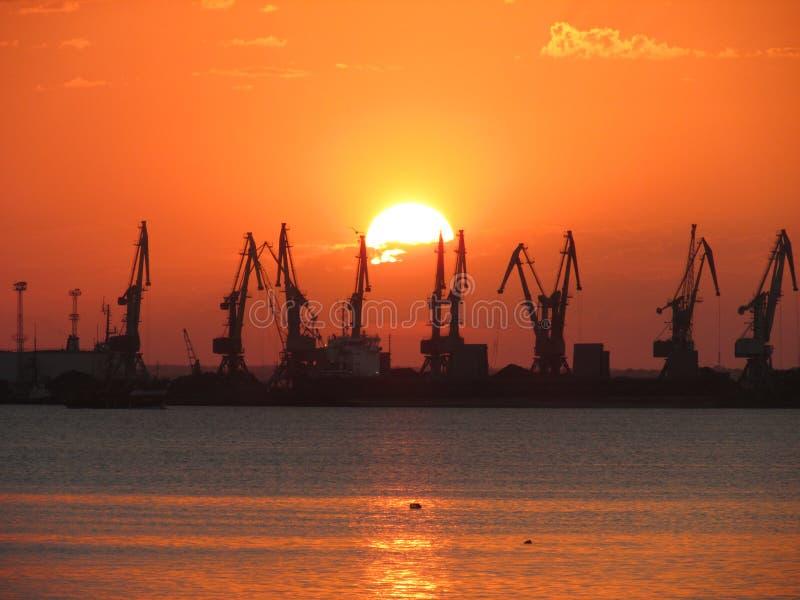 Commerciële haven stock afbeelding