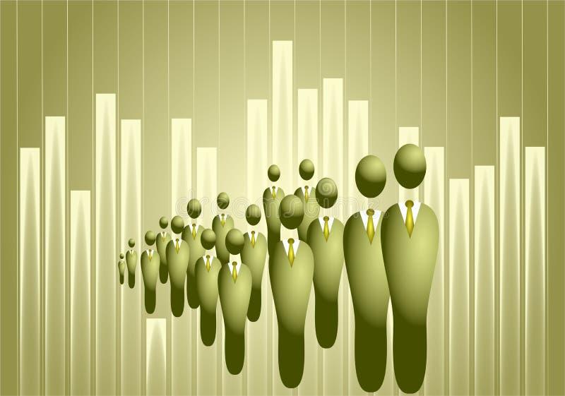 Commerciële menigte stock illustratie