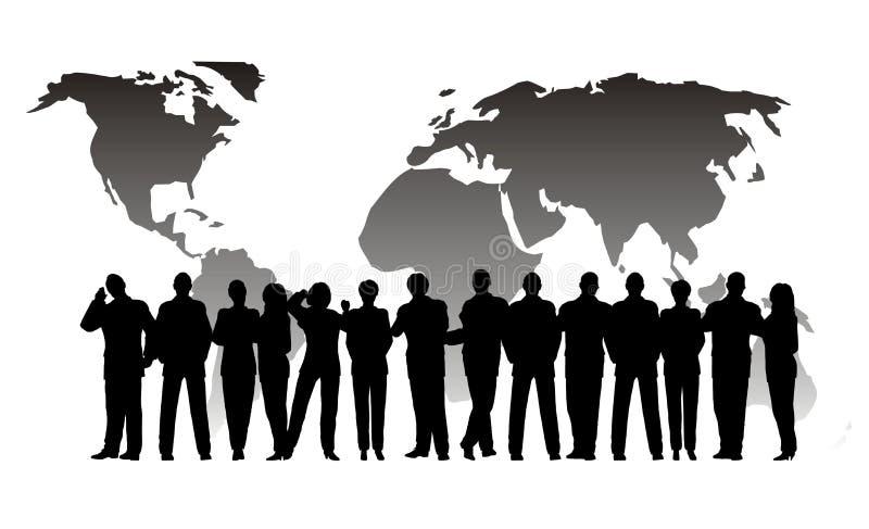 Commerciële menigtebol royalty-vrije illustratie