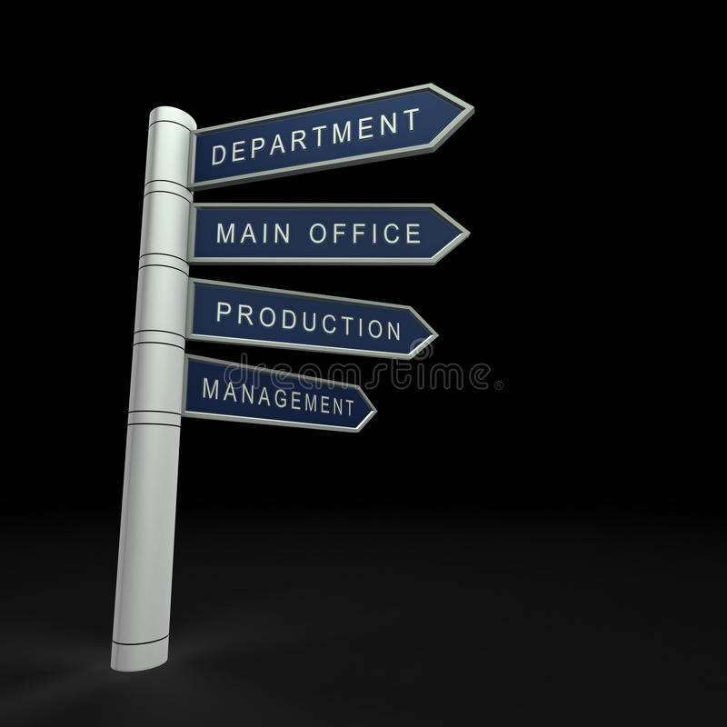 Commerciële organisatie stock illustratie