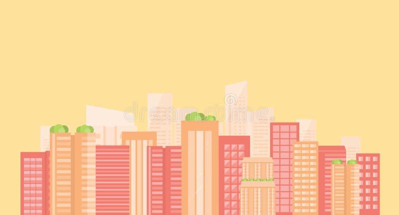 Commerciële slimme stad De aansluting van Internet sociaal vector illustratie
