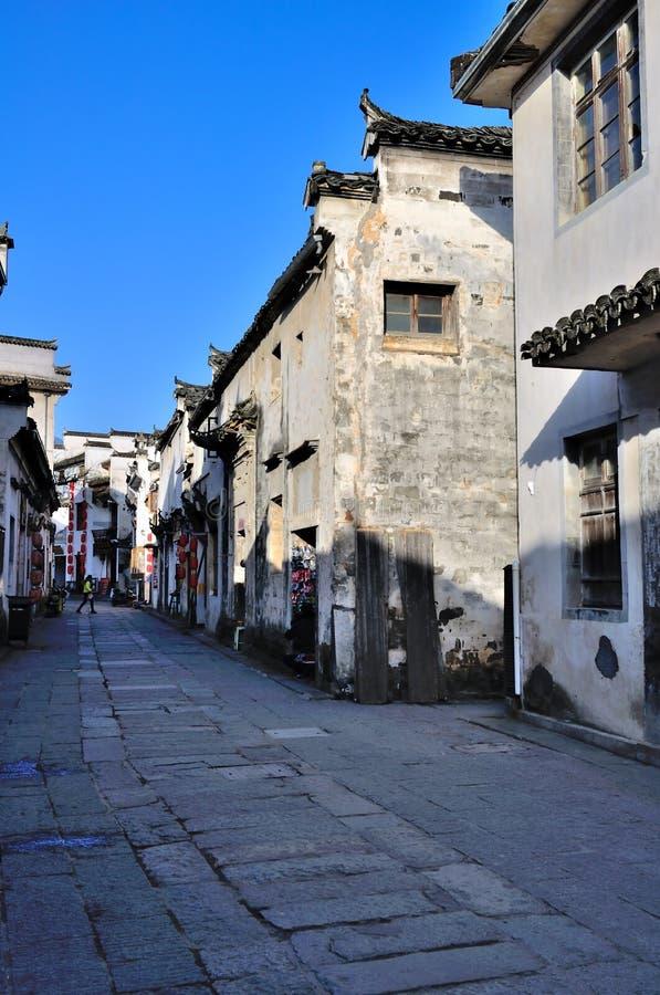 Commerciële Straat in Hong Village stock foto's
