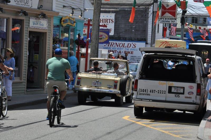 Commerciële Straat in Provincetown, Cape Cod in Massachusetts stock foto