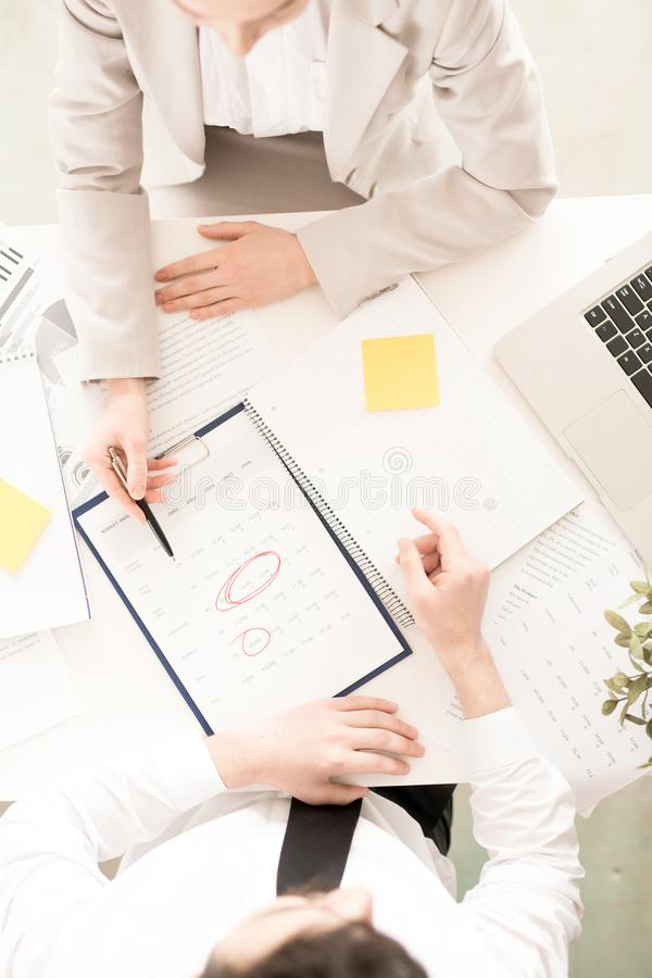 Commerciële team planning stock afbeelding
