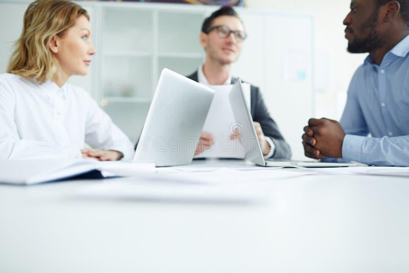 Commerciële team planningsstrategie stock foto