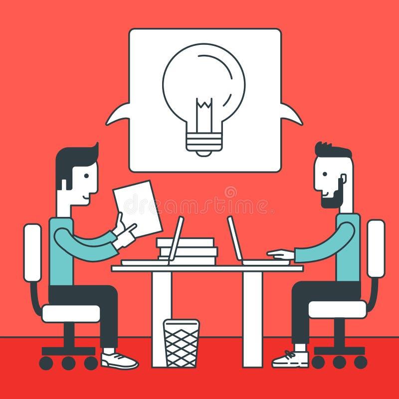 Commerciële teambrainstorming vector illustratie