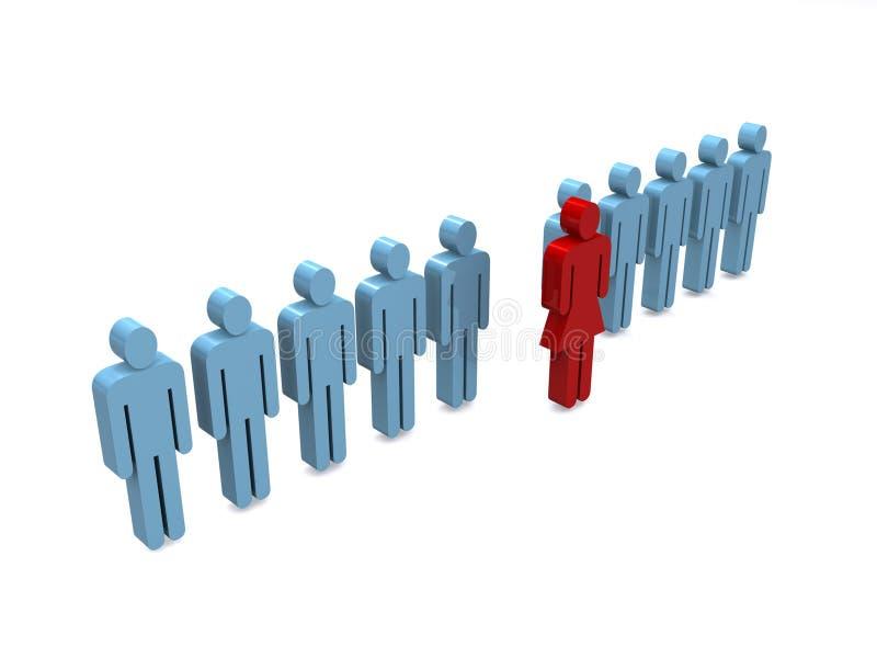 Commerciële teamleider stock illustratie