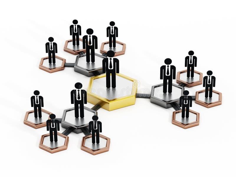 Commerciële teams royalty-vrije illustratie