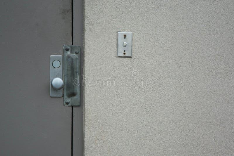 Commerciële veiligheidsdeur stock afbeelding