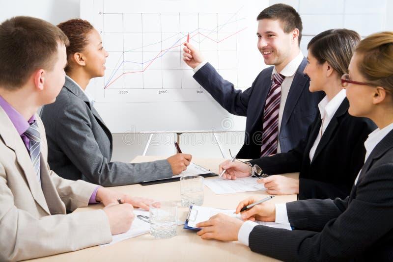Commerciële vergadering stock foto's