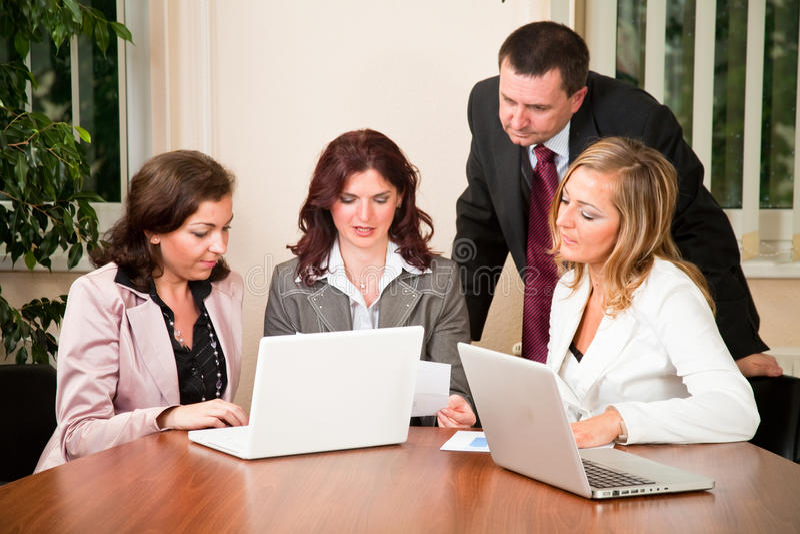 Commerciële vergadering royalty-vrije stock afbeelding